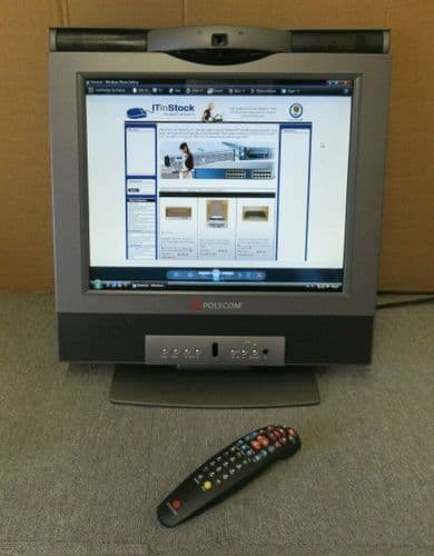 """PolyCom 2201-22063-204 VSX3000 17"""" LCD Video Conferencing Terminal With Remote"""